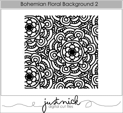 Bohemian Floral Background 2