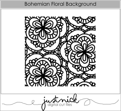 Bohemian Floral Background