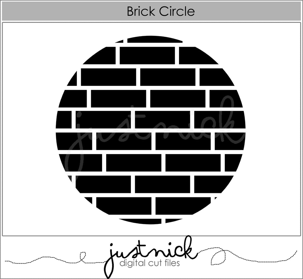 Brick Circle Background