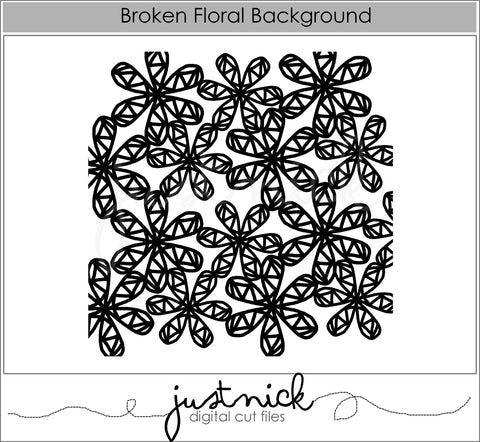 Broken Floral Background