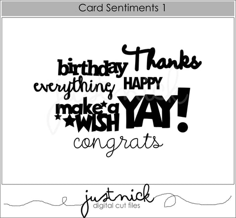 Card Sentiments 1