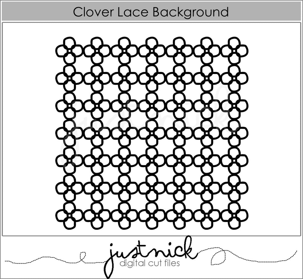 Clover Lace Background