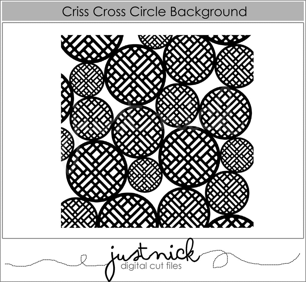 Criss Cross Circle Background