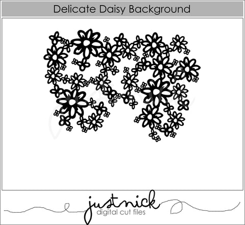 Delicate Daisy Background
