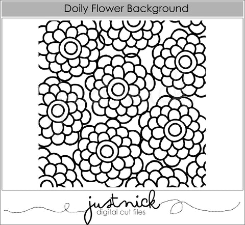 Doily Flower Background