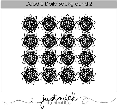Doodle Doily Background 2