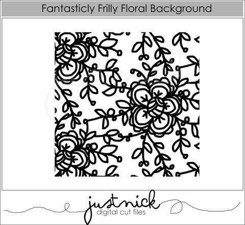 Fantastically Frilly Floral Background