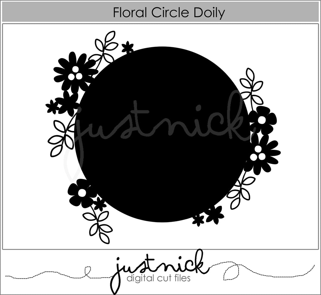 Floral Circle Doily