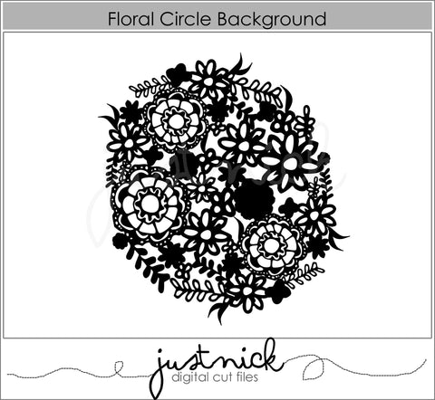 Floral Circle Background