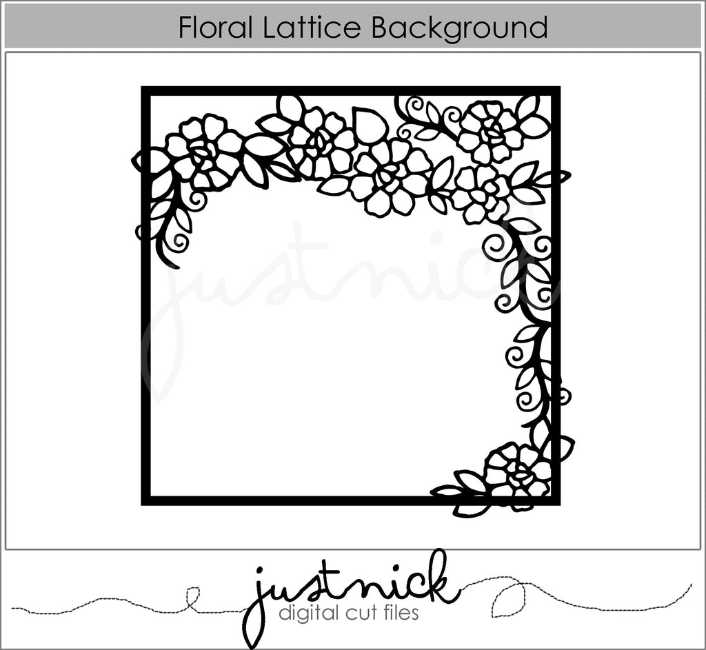 Floral Lattice Background