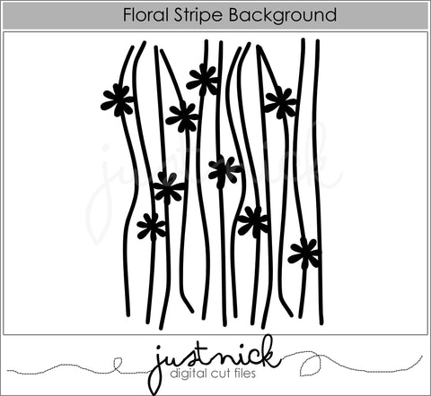 Floral Stripe Background