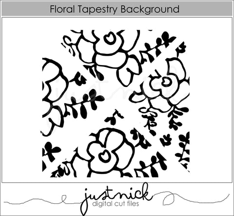 Floral Tapestry Background