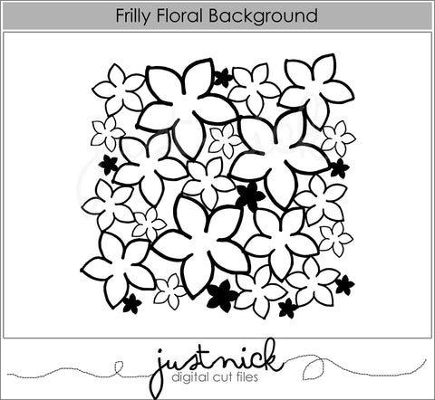 Frilly Floral Background