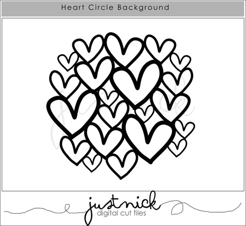 Heart Circle Background