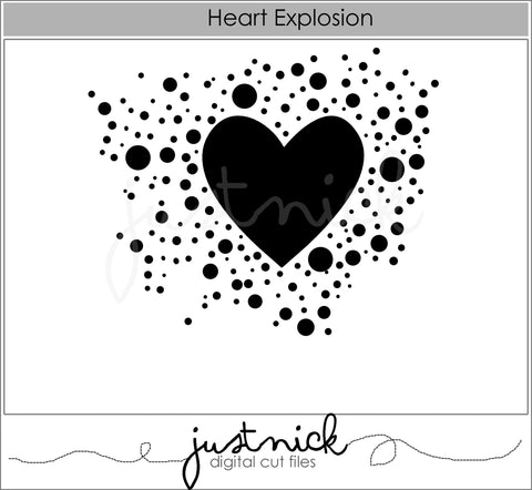 Heart Explosion Background