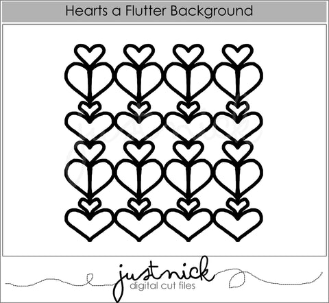Hearts a Flutter Background