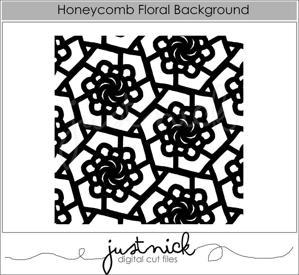 Honeycomb Floral Background