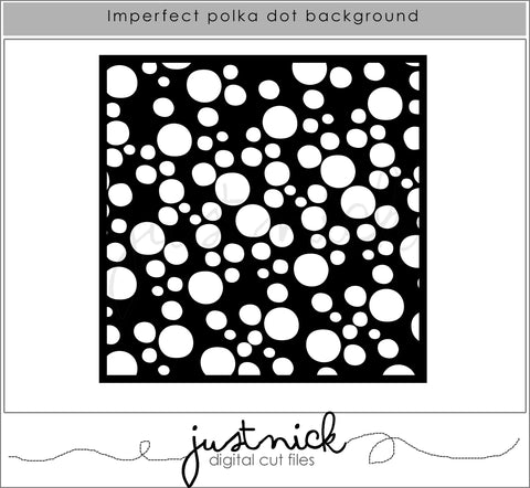 Imperfect Polka Dot Background