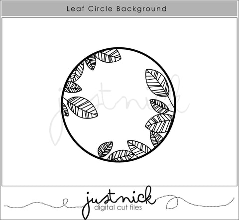 Leaf Circle background