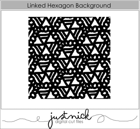 Linked Hexagon Background