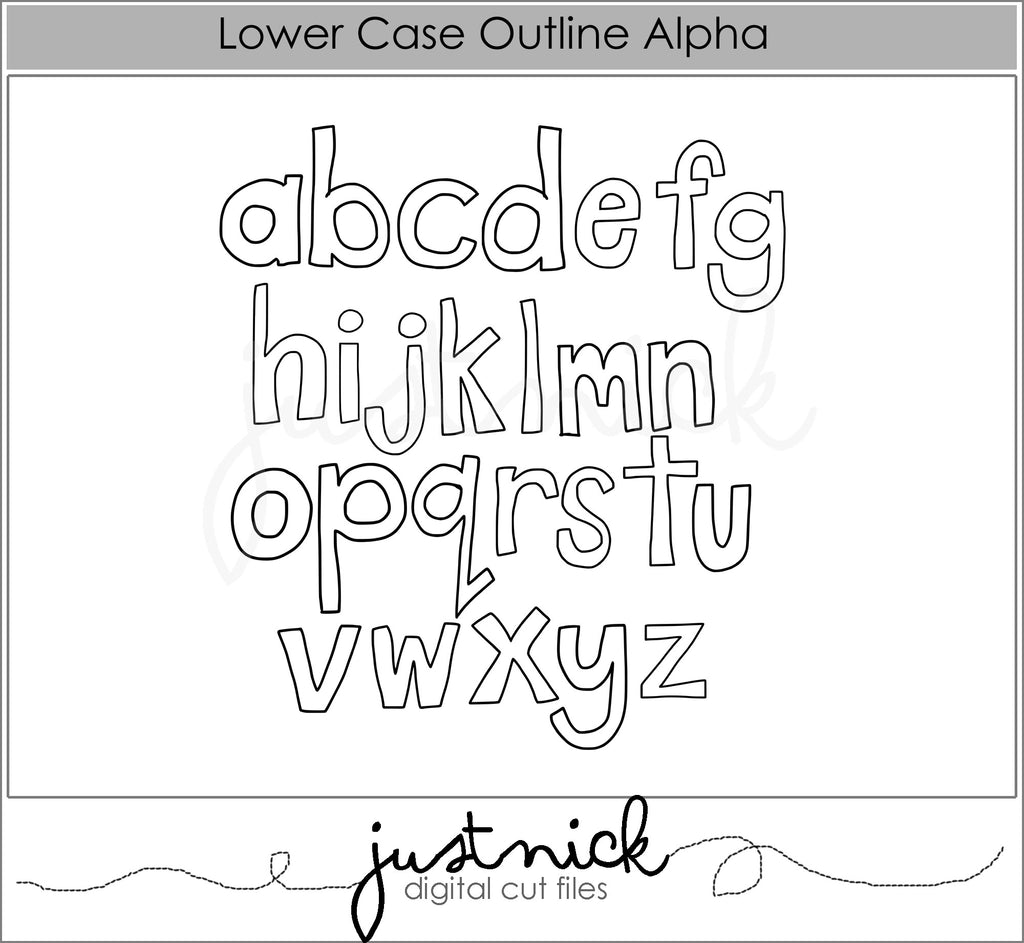 Lower Case Outline Alpha
