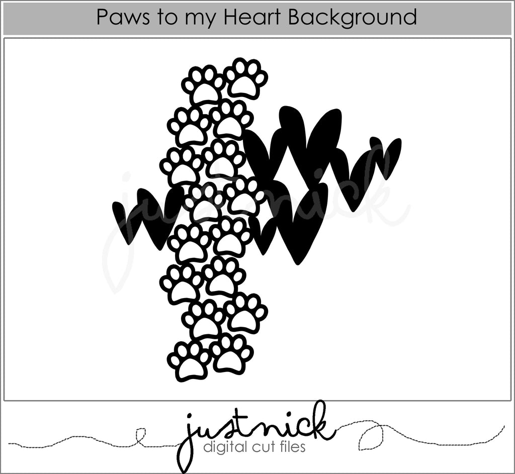 Paws to my heart background