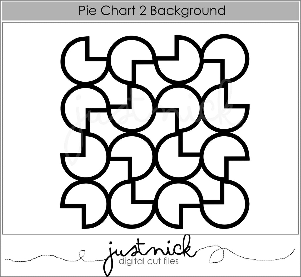 Pie Chart Lace Background