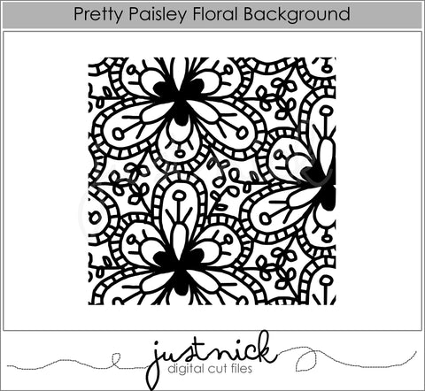 Pretty Paisley Floral Background