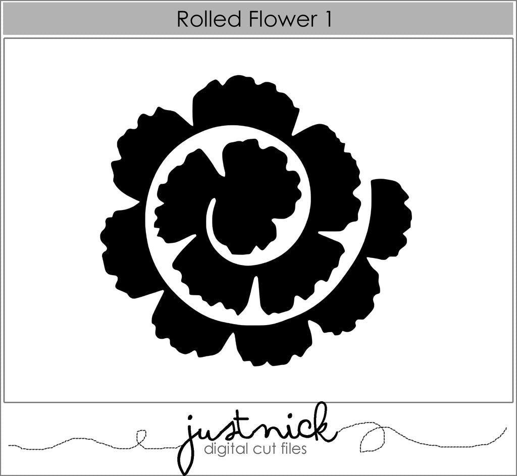 Rolled Flower 1