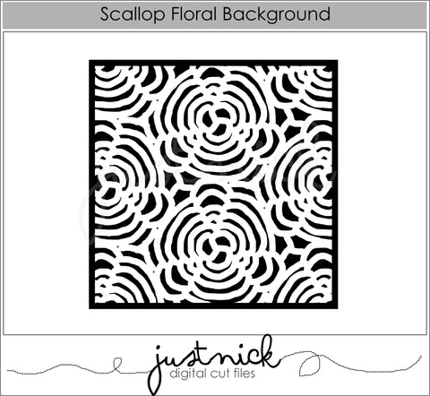Scallop Floral Background