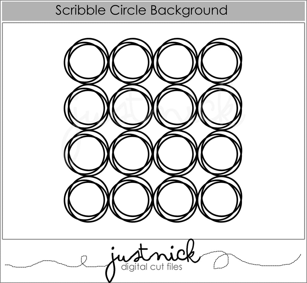 Scribble Circle Background