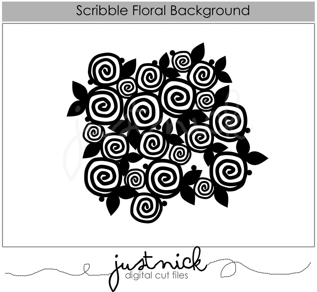 Scribble Floral Background
