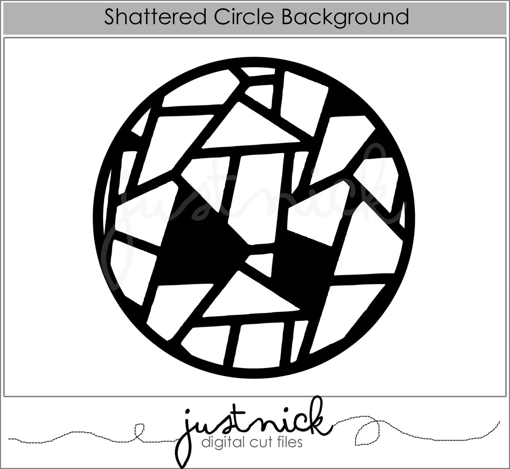 Shattered Circle Background