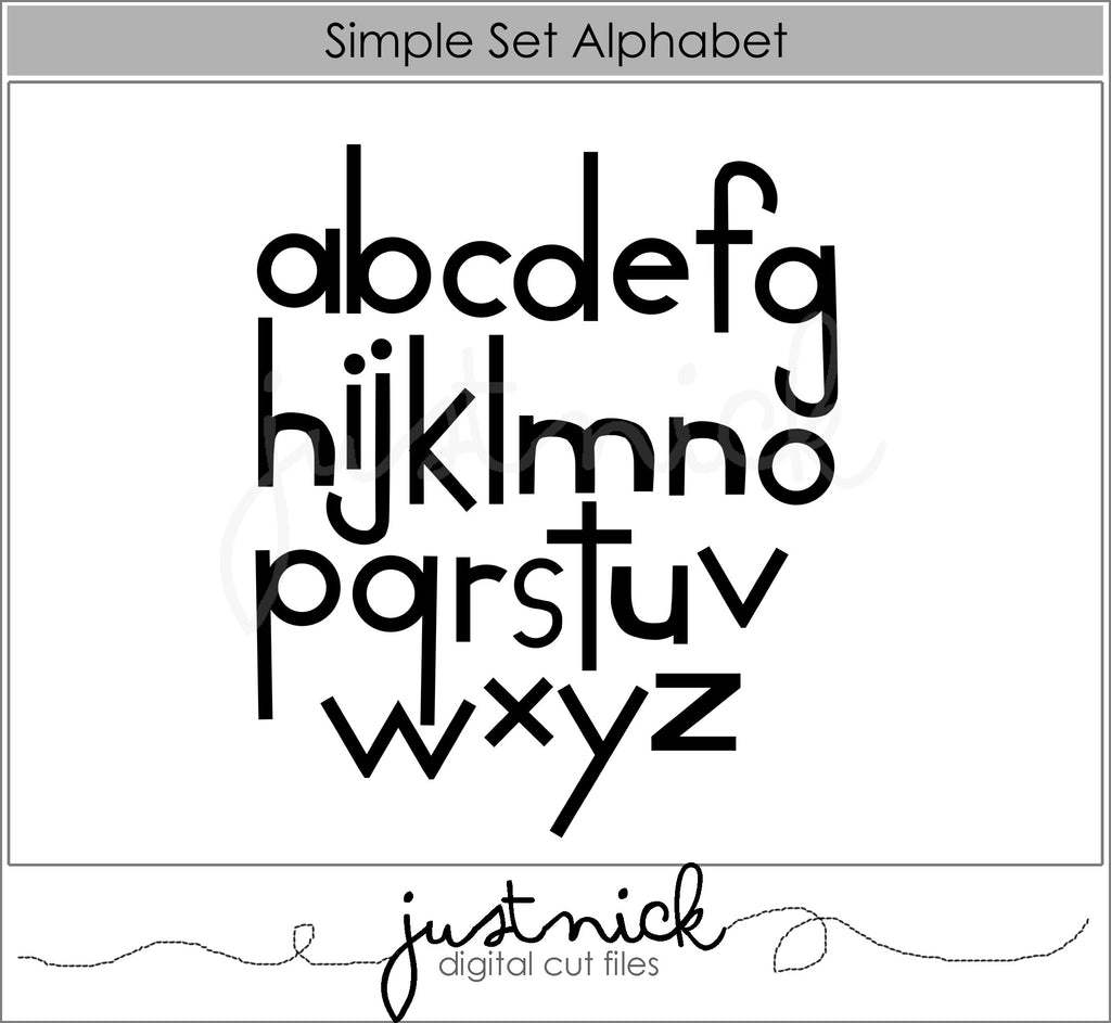 Simple Set Alphabet