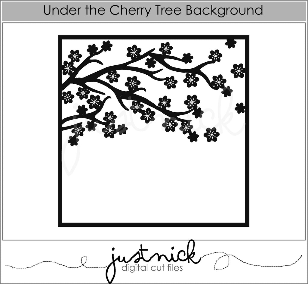 Under the cherry tree Background