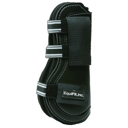 Equifit T-Boot Exp II Front Velcro Boot Black Twisted Bit