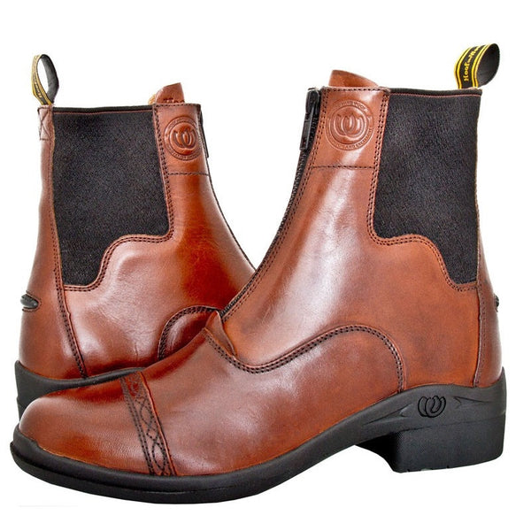 Hoof & Woof Paddock Front Zip Boot Chocolate Twisted Bit