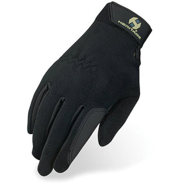 Heritage Performance Fleece Gloves Black Twisted Bit