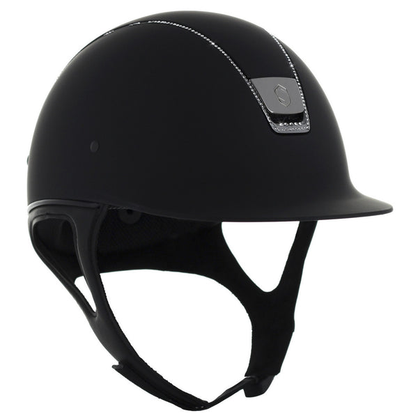 Samshield Shadowmatt Helmet With 255 Swarovsk Black Twisted Bit