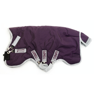 Horseware RAMBO Wug Turnout Heavy 400g Purple with Silver Twisted Bit