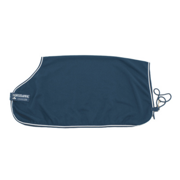Horseware RAMBO Cotton Cooler Navy ith Navy and White Twisted Bit