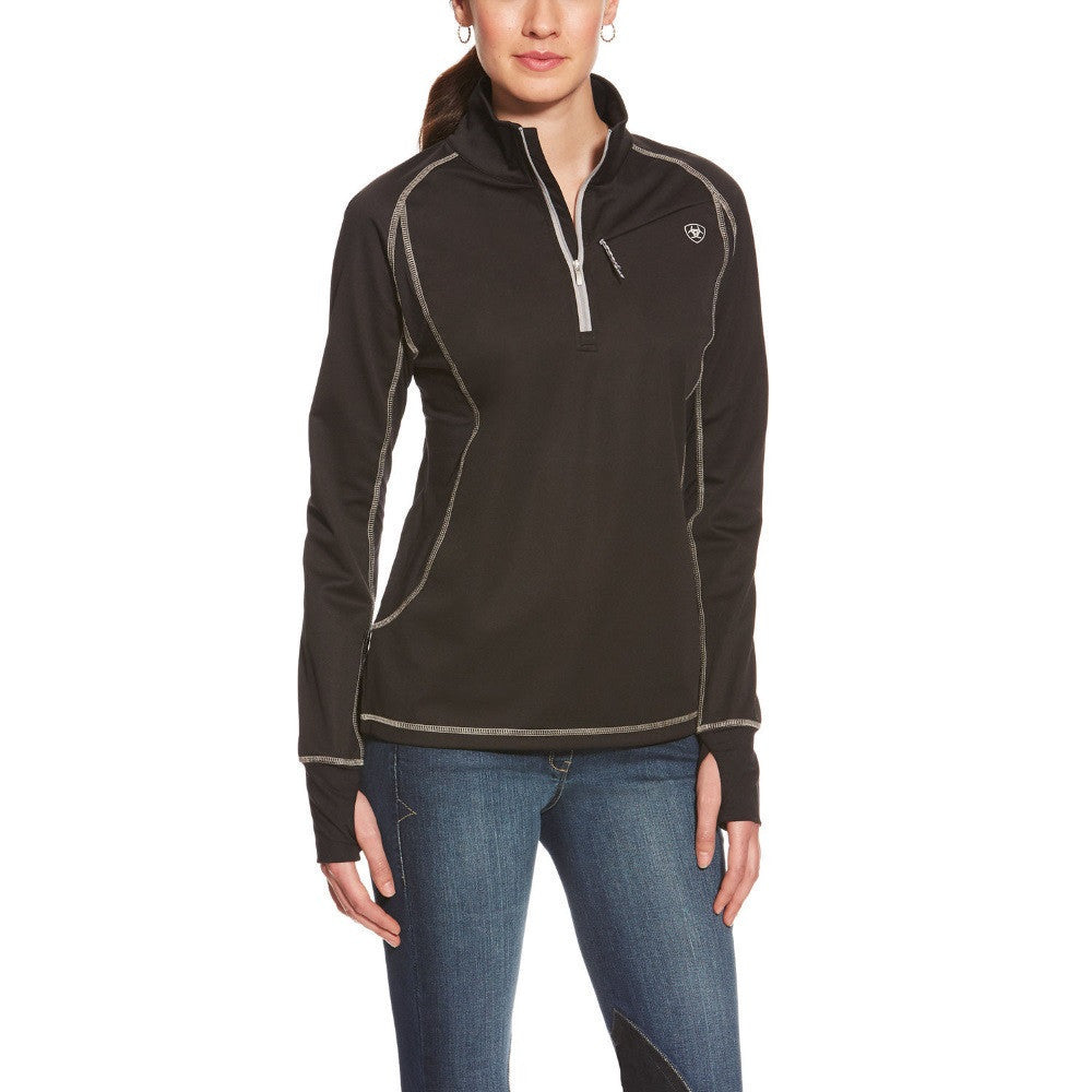 Ariat Women's Bryone 1/2 Zip Top Black The Twisted Bit