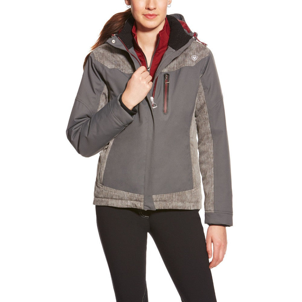 Ariat Women's Caldo Waterproof Jacket Graphite The Twisted Bit