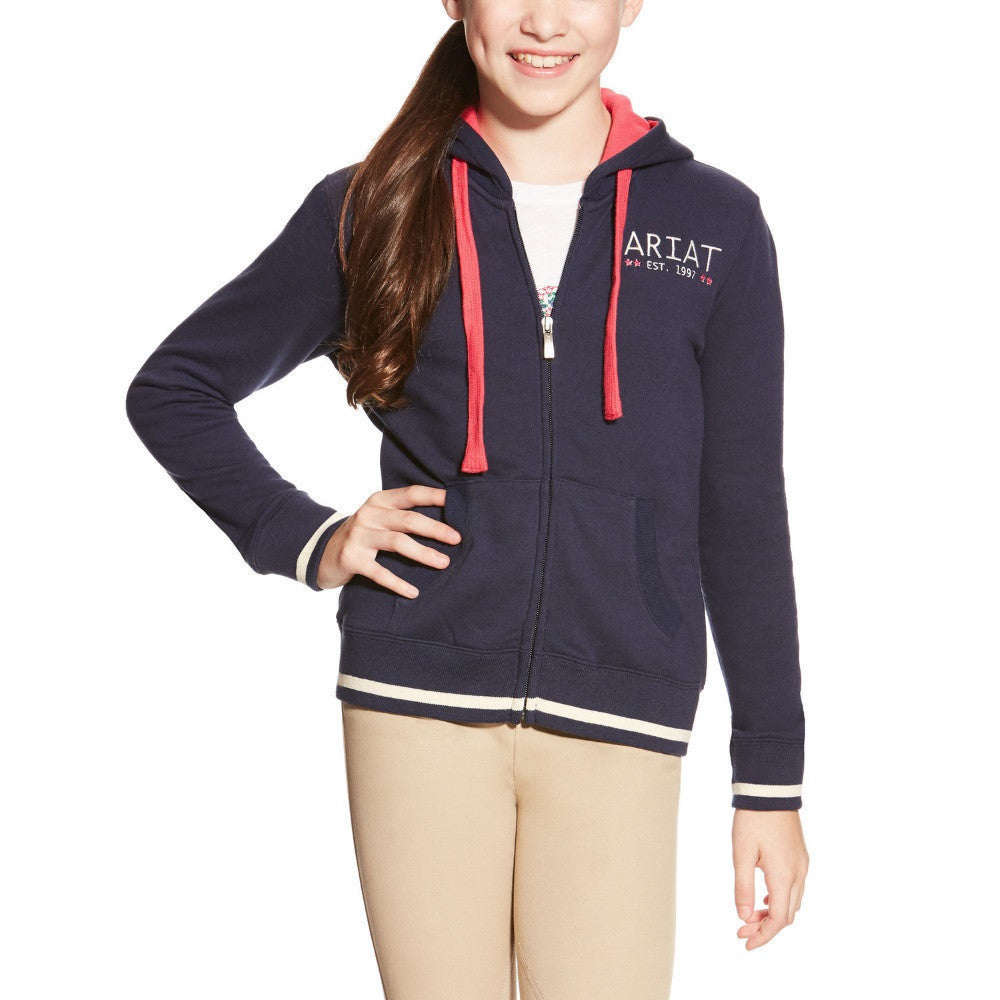 Ariat Girl's Cali Hoodie Navy The Twisted Bit