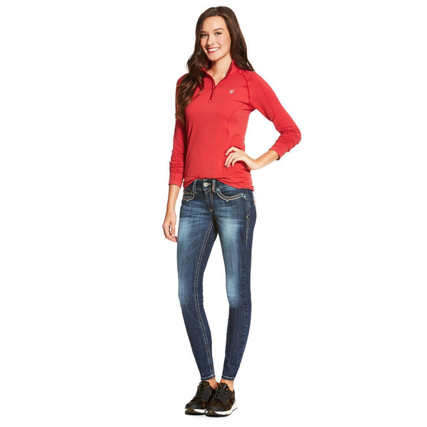 Ariat Women's Odyssey Seamless 1/4 Zip Top Rouge Red The Twisted Bit