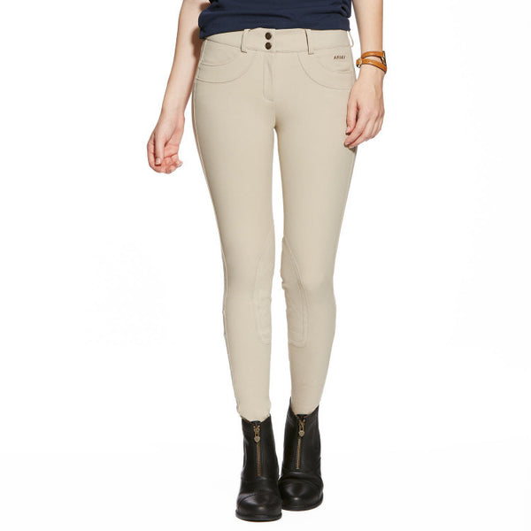 Ariat Olympia Low Front Zip Euro Seat Breech Tan Twisted Bit