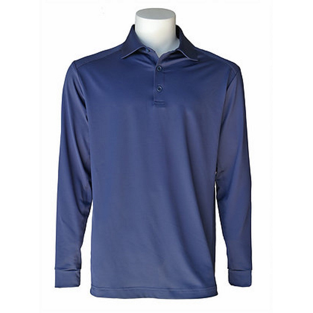 Equi In Style Men's Navy Long Sleeve Cool Polo The Twisted Bit