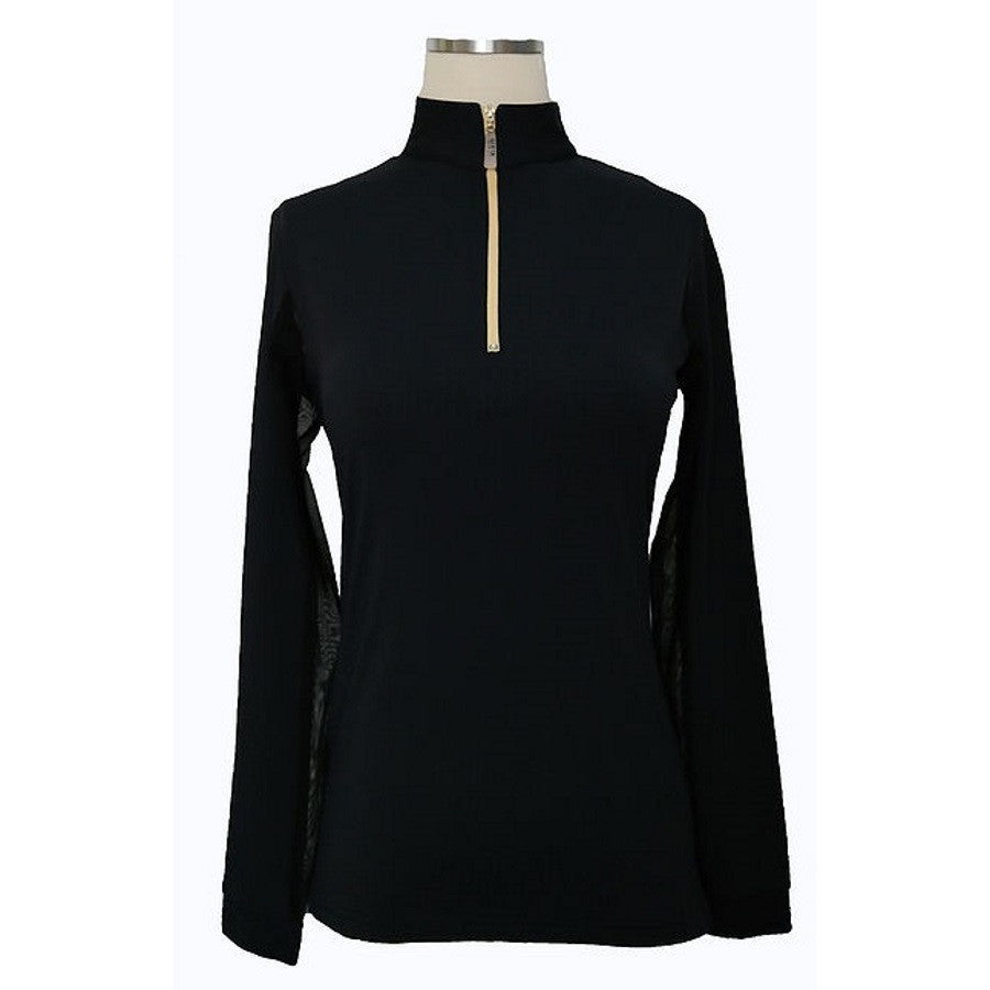 Equi In Style Youth Blocked COOL Shirt Black with Cashmere The Twisted Bit