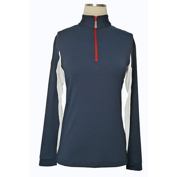 Equi In Style Blocked COOL American Shirt Navy with Red and White The Twisted Bit