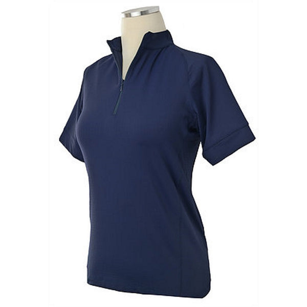 Equi In Style Paneled COOL Short Sleeve Shirt Navy The Twisted Bit